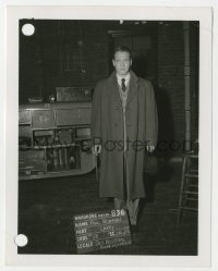 8g052 HELEN MORGAN STORY 4x5.25 wardrobe test photo 1957 Paul Newman in overcoat as Larry!