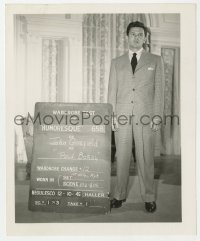 8g053 HUMORESQUE 4.25x5 wardrobe test photo 1946 John Garfield in suit & tie as Paul Boray!