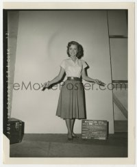 8g054 I LOVE MELVIN 4x5 wardrobe test photo 1953 Debbie Reynolds in blouse & skirt as Judy!