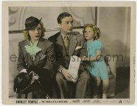 8g023 POOR LITTLE RICH GIRL color 8x10 still 1936 Shirley Temple comforts Alice Faye & Jack Haley!