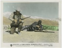8g025 SPRINGFIELD RIFLE color 8x10.25 still 1952 great image of Gary Cooper kneeling with his gun!