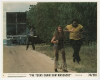 8g027 TEXAS CHAINSAW MASSACRE 8x10 mini LC #4 1974 Tobe Hooper classic, Leatherface chasing victims!