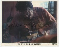 8g028 TEXAS CHAINSAW MASSACRE 8x10 mini LC #7 1974 Tobe Hooper classic, Leatherface cutting victim!