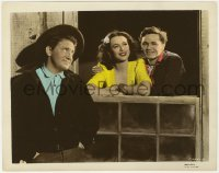 8g029 TORTILLA FLAT color-glos 8x10 still 1942 Hedy Lamarr between Spencer Tracy & John Garfield!