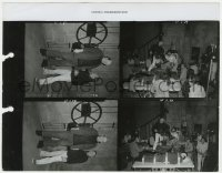 8g062 YOUNG FRANKENSTEIN 8.5x11 contact sheet 1974 Peter Boyle with Mel Brooks & filmed by Brooks!
