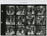 8g061 YOUNG FRANKENSTEIN 8.5x11 contact sheet 1974 candid of top cast clowning around while eating!