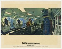 8g032 2001: A SPACE ODYSSEY Cinerama color English FOH LC 1968 Stanley Kubrick, astronaut in ship!