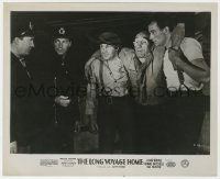 8g038 LONG VOYAGE HOME English FOH LC 1940 John Wayne & Thomas Mitchell with policemen, John Ford!