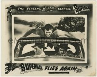 8g039 SUPERMAN FLIES AGAIN English FOH LC 1954 FX image of George Reeves lifting car, ultra rare!