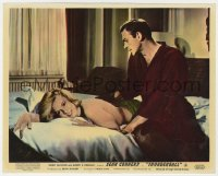 8g035 THUNDERBALL color English FOH LC 1965 Connery as James Bond & topless Molly Peters in bed!
