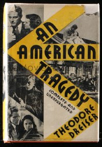 8h005 AMERICAN TRAGEDY Horace Liveright movie edition hardcover book 1931 Dreiser, von Sternberg