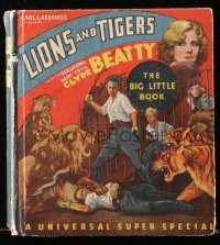 8h049 BIG CAGE Whitman Big Little Book hardcover book 1933 Clyde Beatty, circus Lions & Tigers!