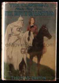 8h006 BIRTH OF A NATION Grosset & Dunlap movie edition hardcover book 1915 D.W. Griffith, Dixon