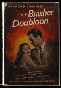 8h008 BRASHER DOUBLOON World Publishing Company movie edition hardcover book 1946 Raymond Chandler!