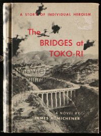 8h009 BRIDGES AT TOKO-RI movie edition hardcover book 1960 James Michener novel with movie images!