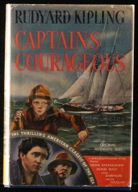 8h010 CAPTAINS COURAGEOUS Sun Dial movie edition hardcover book 1937 Rudyard Kipling's story!