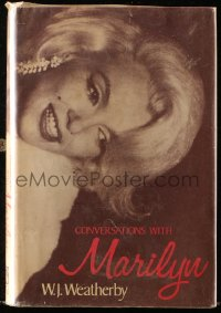 8h053 CONVERSATIONS WITH MARILYN hardcover book 1976 discuissions between Monroe & news reporter!