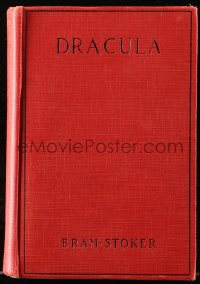 8h012 DRACULA movie edition hardcover book 1931 Bram Stoker's novel, Bela Lugosi, Tod Browning!