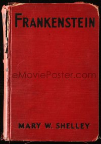 8h013 FRANKENSTEIN movie edition hardcover book 1931 Mary Shelley novel, Boris Karloff, James Whale