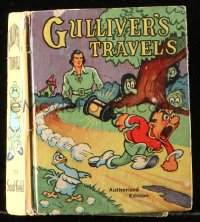 8h050 GULLIVER'S TRAVELS Saalfield Little Big Book hardcover book 1939 from Dave Fleischer's movie!
