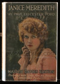 8h015 JANICE MEREDITH Grosset & Dunlap movie edition hardcover book 1924 w/images of Marion Davies!