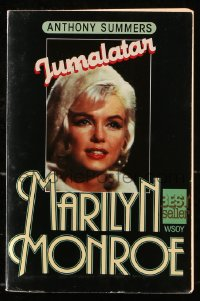 8h067 JUMALATAR MARILYN MONROE Finnish softcover book 1985 Goddess, Secret Lives of Marilyn Monroe!