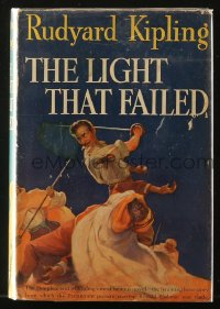 8h016 LIGHT THAT FAILED movie edition hardcover book 1939 Rudyard Kipling, Ronald Colman, Wellman
