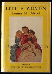 8h018 LITTLE WOMEN movie edition hardcover book 1933 Louisa May Alcott, Katharine Hepburn