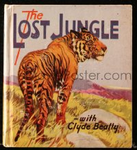 8h051 LOST JUNGLE Saalfield Little Big Book hardcover book 1936 animal trainer Clyde Beatty!