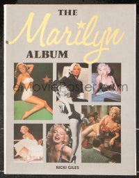 8h057 MARILYN ALBUM hardcover book 1991 many photographs of sexy Monroe from the 1940s to 1962!