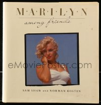 8h058 MARILYN AMONG FRIENDS hardcover book 1987 beautiful color photos from 1952 until 1963!