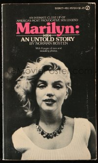 8h063 MARILYN AN UNTOLD STORY paperback book 1973 bio of America's most provocative sex legend!