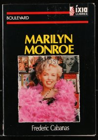 8h068 MARILYN MONROE signed Spanish softcover book 1992 index of books with full-color images!