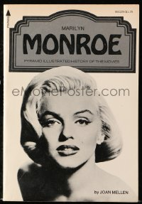 8h064 MARILYN MONROE paperback book 1976 an illustrated history of the movie legend by Joan Mellen!