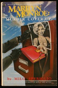 8h065 MARILYN MONROE MURDER COVER-UP paperback book 1982 great cover art by Todd Waite!