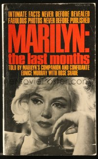 8h066 MARILYN: THE LAST MONTHS paperback book 1975 fabulous photos never before published!