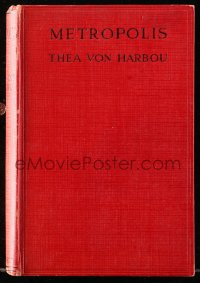 8h020 METROPOLIS movie edition English hardcover book 1927 Thea von Harbou's novel, Fritz Lang