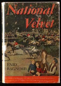 8h023 NATIONAL VELVET movie edition hardcover book 1944 Enid Bagnold's horse racing novel!