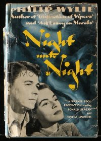 8h024 NIGHT UNTO NIGHT movie edition hardcover book 1949 Ronald Reagan & Viveca Lindfors!