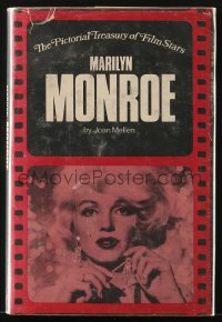 8h061 PICTORIAL TREASURY OF FILM STARS: MARILYN MONROE hardcover book 1973 illustrated biography!
