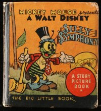 8h052 SILLY SYMPHONY Big Little Book hardcover book 1934 Walt Disney's Bucky Bug story picture book!