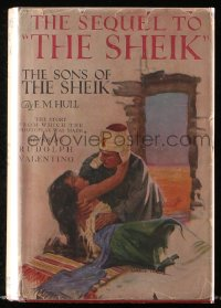8h031 SON OF THE SHEIK movie edition hardcover book 1925 E.M. Hull novel, Rudolph Valentino!