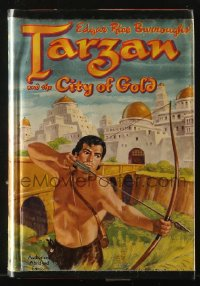 8h044 TARZAN Whitman Publishing hardcover book 1952 Edgar Rice Burroughs, Tarzan & the City of Gold
