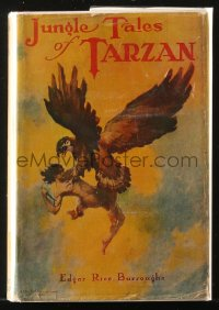 8h042 TARZAN Grosset & Dunlap hardcover book 1919 Edgar Rice Burroughs, Jungle Tales of Tarzan!