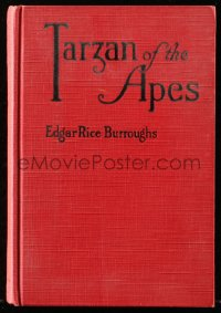 8h041 TARZAN Grosset & Dunlap hardcover book 1910s Edgar Rice Burroughs' Tarzan of the Apes!