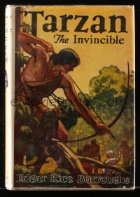 8h040 TARZAN Burroughs Inc. hardcover book 1939 Edgar Rice Burroughs, Tarzan the Invincible!