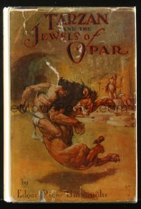 8h038 TARZAN A.L. Burt hardcover book 1918 Edgar Rice Burroughs, Tarzan and the Jewels of Opar!