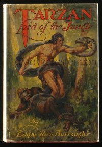 8h043 TARZAN Grosset & Dunlap hardcover book 1928 Tarzan: Lord of the Jungle, Edgar Rice Burroughs
