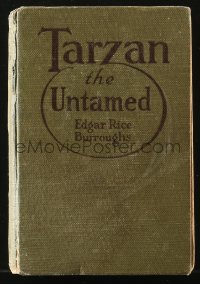 8h035 TARZAN A.C. McClurg & Co. hardcover book 1920 Edgar Rice Burroughs, Tarzan the Untamed