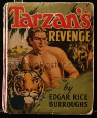 8h048 TARZAN'S REVENGE Big Little Book hardcover book 1938 Edgar Rice Burroughs story!